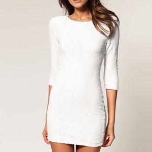 TFNC London White Sequin Dress